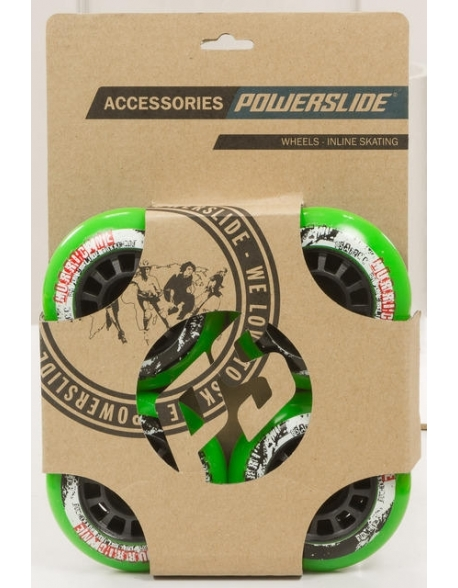 Roti Powerslide Hurricane Verde 72mm/85A