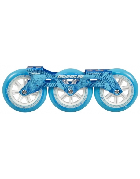 Set Sina+Roti Powerslide Megacruiser 125mm Blue