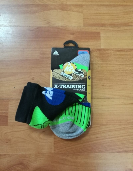 Sosete Role K2 X-Training Black/Green/Blue