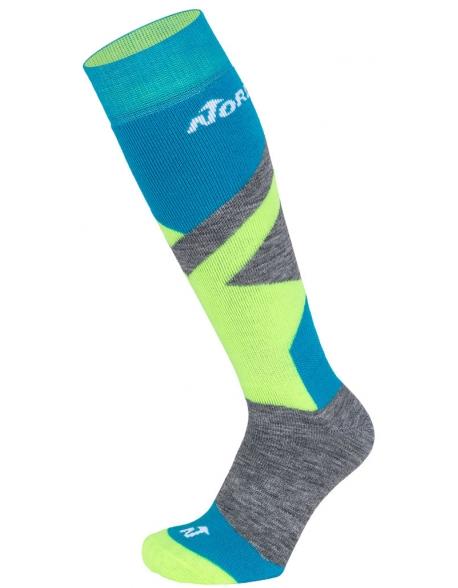 Sosete Nordica Multisport Winter Jr Blue/Neon Green/Mid Grey Mel