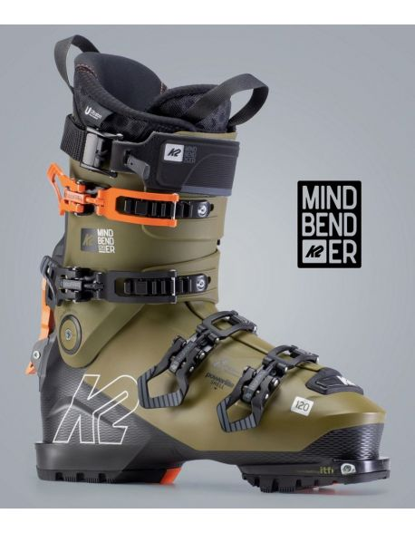 Clapari Freeride/Tura K2 Mindbender 120 Black-Brown