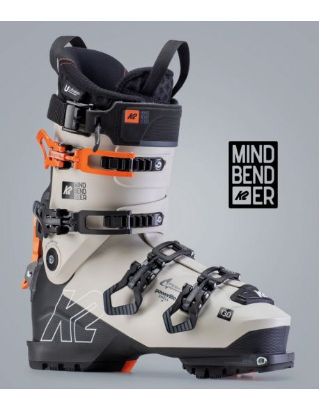 Clapari Freeride/Tura K2 Mindbender 130 Black-White-Orange