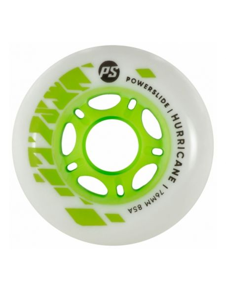 Roti Powerslide Hurricane White-Green 76mm/85A Vrac