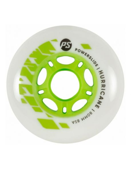 Roti Powerslide Hurricane White-Green 80mm/85A Vrac