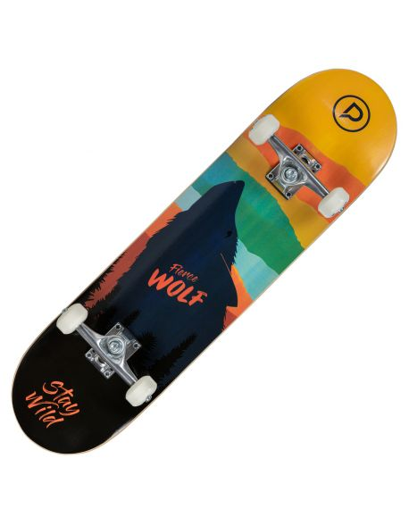 Skateboard Playlife Fierce Wolf