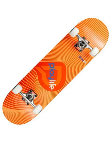 Skateboard Playlife Illusion Orange