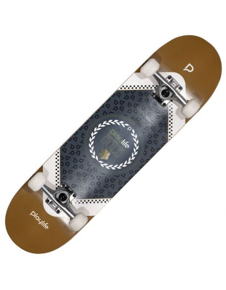 Skateboard Playlife Heavy Metal Gold