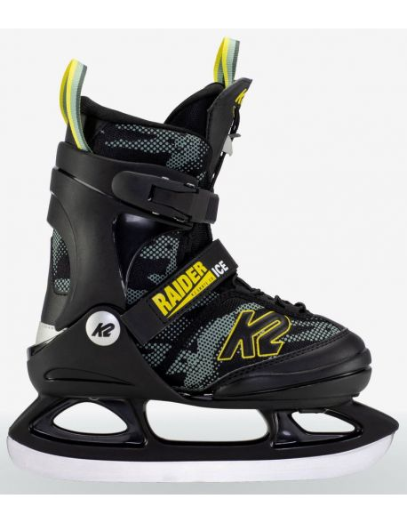 Patine Copii K2 Raider Ice Black-Grey-Yellow