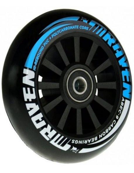 Roti Trotineta Raven Slick Hi-Rebound Black-Blue 100mm + rulmenti Abec 9
